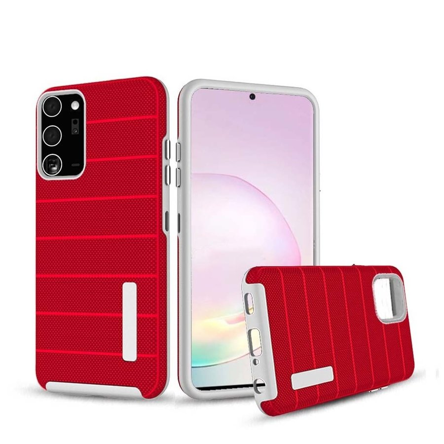 PC TPU Shock Proof Hybrid Case with Stripes Design for Galaxy Note 20 Ultra