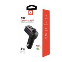 JLW WUW | 3 in 1 USB-C FM Transmitter with Dual USB Ports (C12)