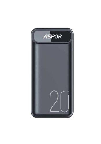 ASPOR | 20,000 mAh USB-C Portable Power Bank with Dual USB Ports (A396)