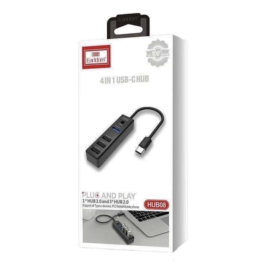 EARLDOM   USB-C to 4-Port USB Hub (HUB08)