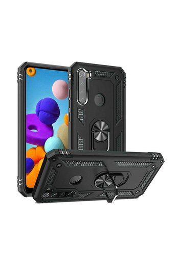 Slim Hybrid PC TPU Magnetic Ring Case for Galaxy A21