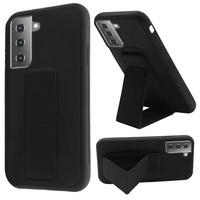 Premium PC TPU Foldable Magnetic Kickstand Case for Galaxy S21
