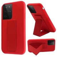 Premium PC TPU Foldable Magnetic Kickstand Case for Galaxy S21 Ultra