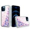KASEAULT | Liquid Quicksand Glitter Pink Love Stripes Design Case for iPhone 12 / 12 Pro