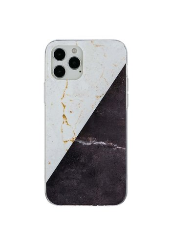 KASEAULT   Hard TPU  Electroplated Vintage Marble Design Case for iPhone 12 Pro Max