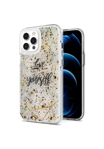 Magnificent Love Yourself Glitter Design Case for iPhone 12 Pro Max