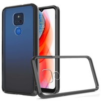 Ultra Slim Clear Hard Fused PC+TPU Case for Motorola Moto G Play (2021)