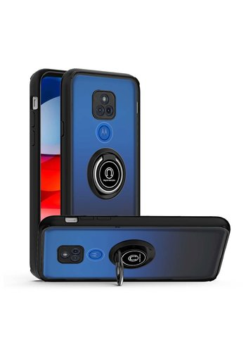 Transparent Hybrid MagRing Case with Camera Cover for Motorola Moto G Play (2021)