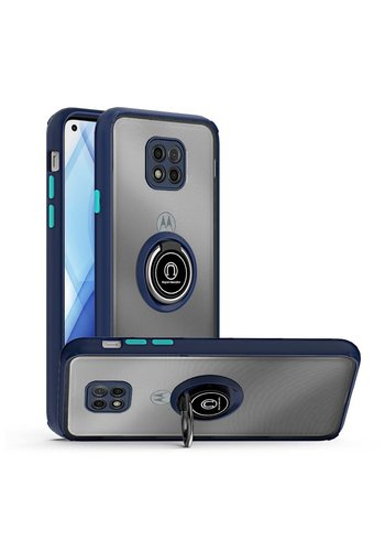 Transparent Hybrid MagRing Case with Camera Cover for Motorola Moto G Power (2021)
