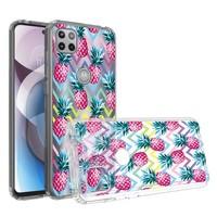KASEAULT   Transparent Bumper Pineapple ZigZag Design Case for Motorola Moto One 5G Ace