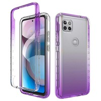 Two Tone Transparent Shockproof Case for Motorola Moto One 5G Ace
