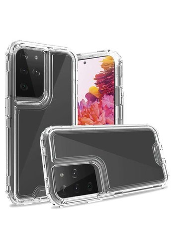 Transparent Shockproof Snap On Bumper Case for Galaxy S21 Plus