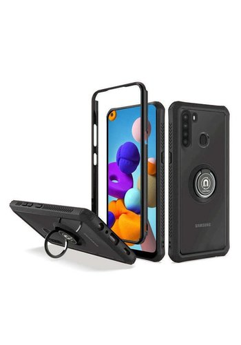Heavy Duty Shockproof Bumper Case with Mag-Ring for Galaxy A21