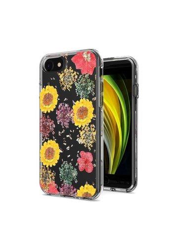 Transparent Botanic Flowers Design Case for iPhone SE (2020) / 8 / 7