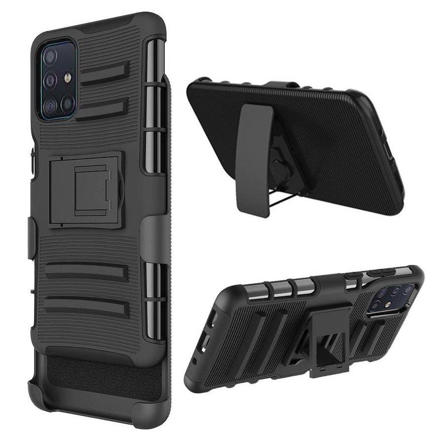 Armor Kickstand Holster Clip Case for Galaxy A51 4G*