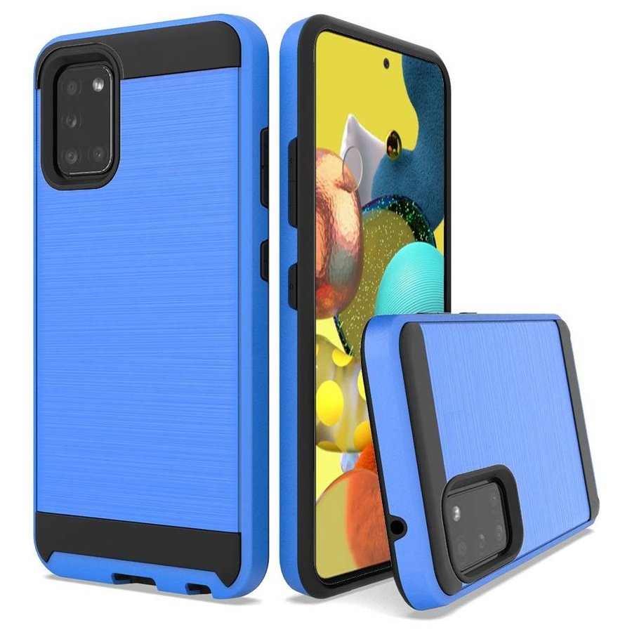 PC TPU Metallic Brushed Design Case for Galaxy A51 5G