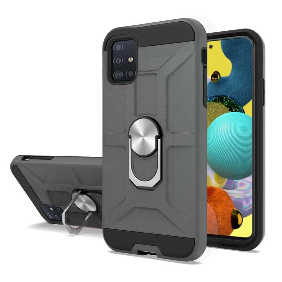 Hybrid Armor Case with 360 Magnetic Ring Stand for Galaxy A51 5G