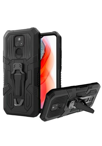 Tactical Armor Shockproof Case with Kickstand for Motorola Moto G Play (2021)
