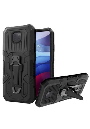 Tactical Armor Shockproof Case with Kickstand for Motorola Moto G Power (2021)