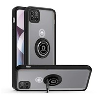 Transparent Hybrid MagRing Case with Camera Cover for Motorola Moto One 5G Ace