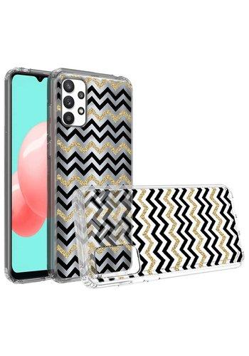 KASEAULT | Transparent ShockProof ZigZag Design Case for Galaxy A32 5G