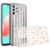 KASEAULT   Transparent ShockProof Hearts and Stripes Design Case for Galaxy A32 5G