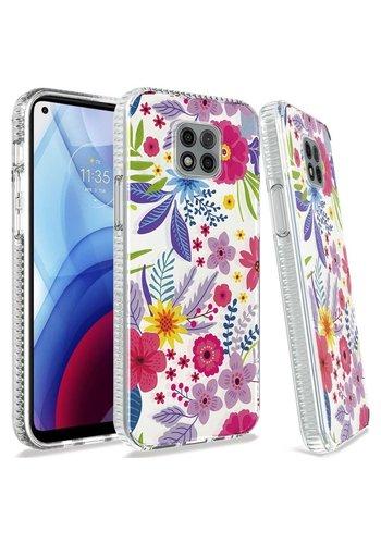 TPU Gel Electroplated Wild Flower Design Case for Motorola Moto G Power (2021)