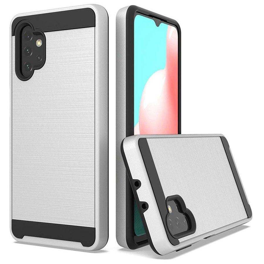 PC TPU Metallic Brushed Design Case for Galaxy A32 5G