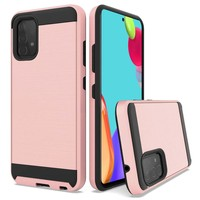 PC TPU Metallic Brushed Design Case for Galaxy A52 5G