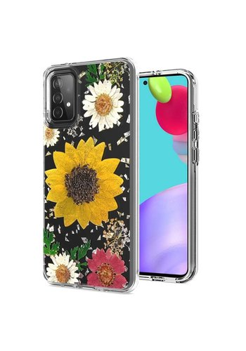 Transparent Sun Flower Print Design Case for Galaxy A52 5G