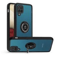 Transparent Hybrid MagRing Case with Camera Cover for Galaxy A12