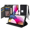 Hybrid PU Leather Metallic Flip Cover Wallet Case with Credit Card Slots for Motorola Moto G Stylus (2021)