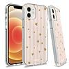 KASEAULT   Transparent ShockProof Hearts and Stripes Design Case for iPhone 12 / 12 Pro