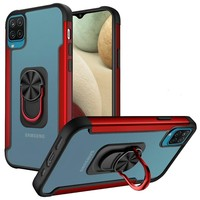Alloy Frost Bumper Case with MagRing Stand for Galaxy A12