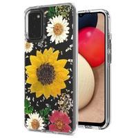 Transparent Sun Flower Print Design Case for Galaxy A02s