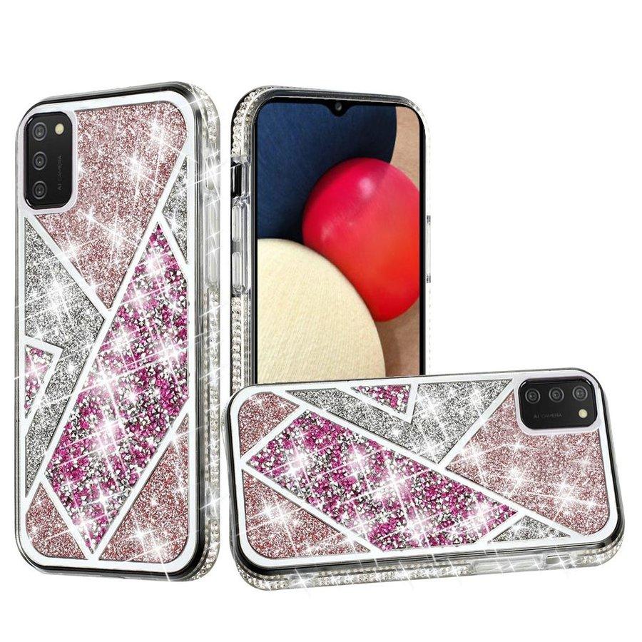 Rhombus Glitter Diamond Design Case for Galaxy A02s