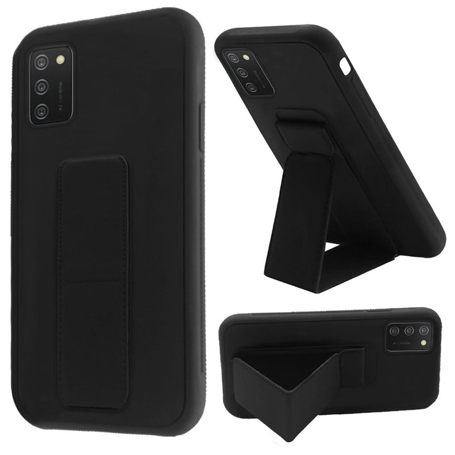 Premium PC TPU Foldable Magnetic Kickstand Case for Galaxy A02s
