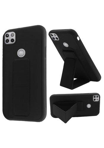 Premium PC TPU Foldable Magnetic Kickstand Case for Motorola Moto One 5G Ace
