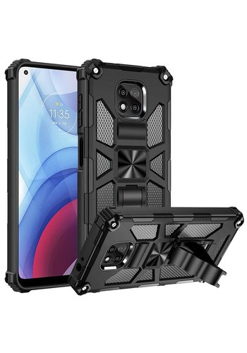 Magnetic Rugged Shockproof Case with Tactical Kickstand for Motorola Moto One 5G Ace