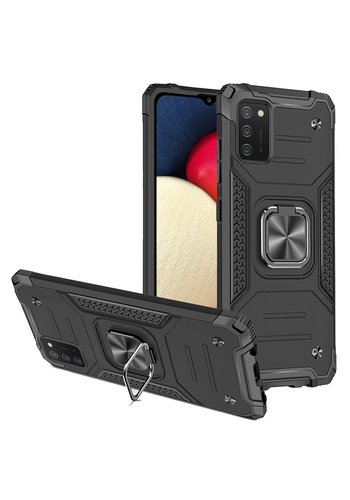 Robust Armor Case with MagRing Kickstand for Galaxy A02s