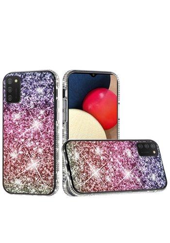 Decorative All Around Diamond  Glitter Case for Galaxy A02s