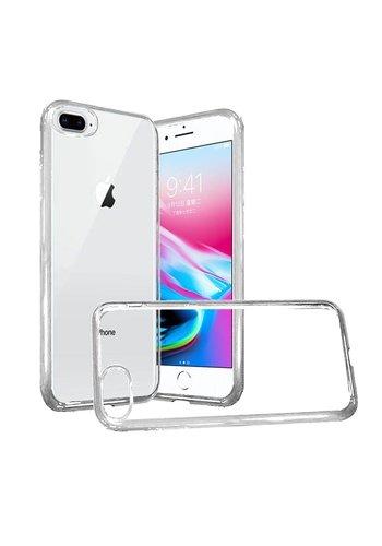 Shockproof Chrome Transparent TPU Case for iPhone 8 Plus / 7 Plus / 6 Plus
