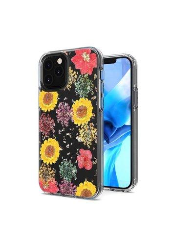 Transparent Botanic Flowers Design Case for iPhone 11