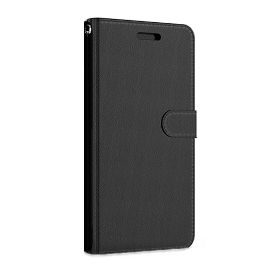 Hybrid PU Leather Flip Cover Case Wallet with Credit Card Slots for iPhone SE (2020) / 8 / 7