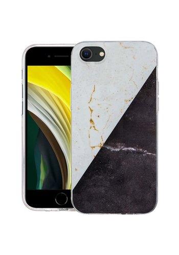 KASEAULT | Hard TPU  Electroplated Vintage Marble Design Case for iPhone SE (2020) / 8 / 7