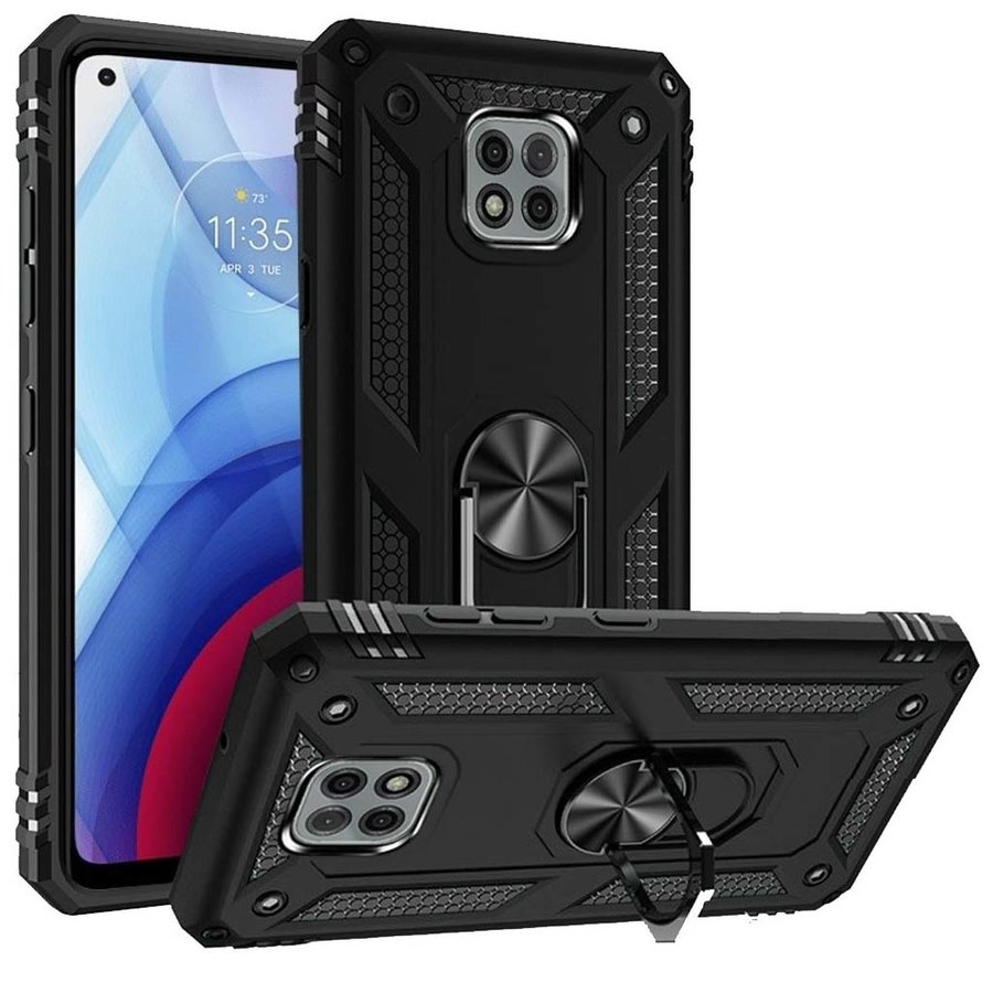 Slim Hybrid PC TPU Magnetic Ring Case for Motorola Moto G Power (2021)