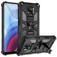 Magnetic Rugged Shockproof Case with Tactical Kickstand for Motorola Moto G Power (2021)