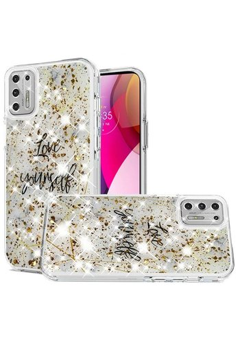 Magnificent Love Yourself Glitter Design Case for Motorola Moto G Stylus (2021)