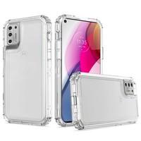 Transparent Shockproof Snap On Bumper Case for Motorola Moto G Stylus (2021)