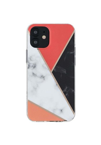 KASEAULT | Hard TPU  Electroplated Power Marble Design Case for iPhone 12 / 12 Pro